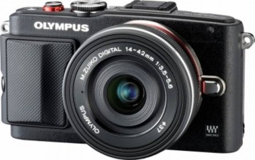 poza Olympus E-PL6 Body black + EZ-M1442 II R black kit