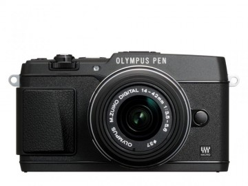 poza Olympus E-P5 black + EZ-M1442 II R black Kit