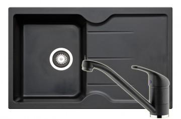 poza Set Chiuveta Porto + Baterie Modo Carbon Pyramis 802