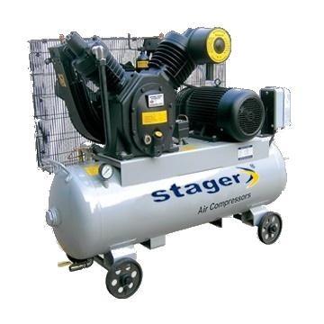 poza Compresor Stager 07V V-060/10 Actionare curea Butelie 190L