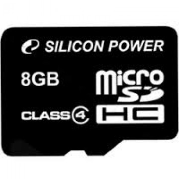 poza SILICON POWER  MICRO SDHC 8GB CL10 WITHOUT ADAPTER