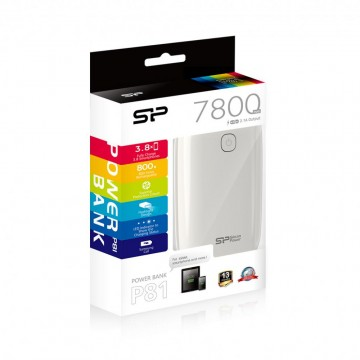 poza SP Portable Power Pack 7800mAh White