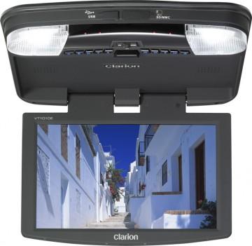 poza Clarion VT-1010E MONITOR DE PLAFON DE 10,2inch, CU PLAYER DVD USB SD ŞI DOUĂ CĂŞTI IR INCLUSE