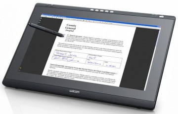 poza Wacom  DTK-2241 Interactive Pen Display