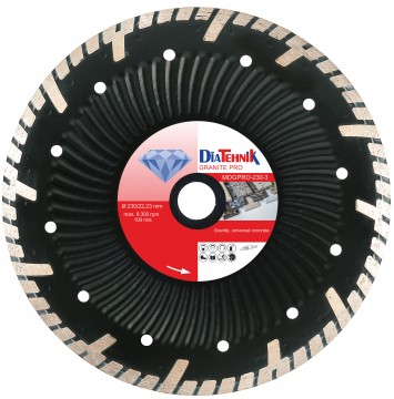 poza Disc diamantat GranitPRO 115x22,23mm pentru beton universal, granit [MDGPRO-115-3]