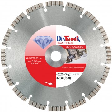 poza Disc diamantat GranitMAX 125x22,23mm pentru beton universal, granit [MDGMAX-125-3]