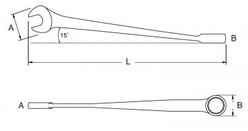 poza Cheie combinata X-BEAM 8mm [SA40281]