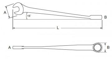 poza Cheie combinata X-BEAM 9mm [SA40282]