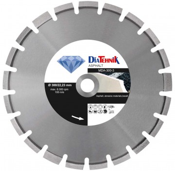 poza Disc diamantat Asphalt 300x25,40mm pentru asfalt si materiale abrazive [MDA-300-4]