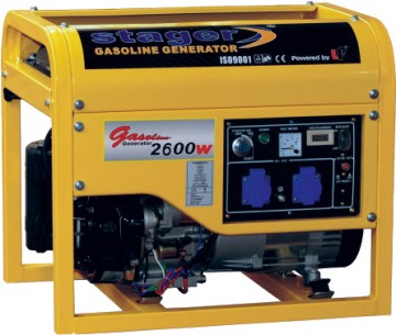 poza Generator open frame benzina Stager GG 3500E+B