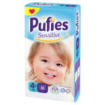 poza Scutece Pufies Sensitive - Maxi+ 50 pcs (maxi pack) size4+ 9-16kg 50buc