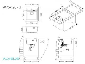 Chiuveta de bucatarie Alveus ATROX 20 G11 ARTIC 470x500