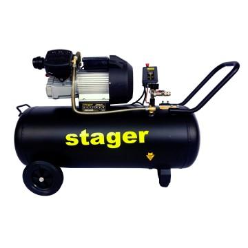 Compresor aer Stager HM3100V-10, 100L, 10bar, 356L/min, monofazat, angrenare directa