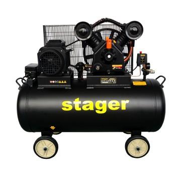 Compresor aer Stager HMV0.6/200-10, 200L, 10bar, 600L/min, trifazat, angrenare curea