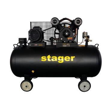 Compresor aer Stager HMV0.6/370-10, 370L, 10bar, 600L/min, trifazat, angrenare curea
