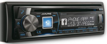 poza Radio CD Alpine CDE-177BT Bluetooth USB 4x50 W Conectare iPhone