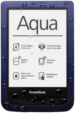 poza E-book PocketBook Aqua Dark Blue, PB 640, 6 inch, 4 GB, rezistent la apa