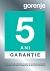 Gorenje Garantie 5 ani